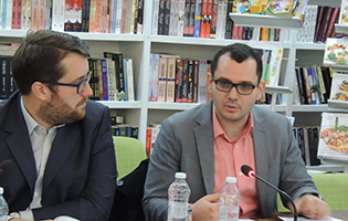 Our researcher Filip Stojkovski at a regional CVE roundtable in Tirana