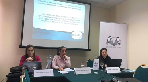 Round table: Improving tobacco tax policy in the Republic of Macedonia - how tobacco products taxation can reduce their consumption?